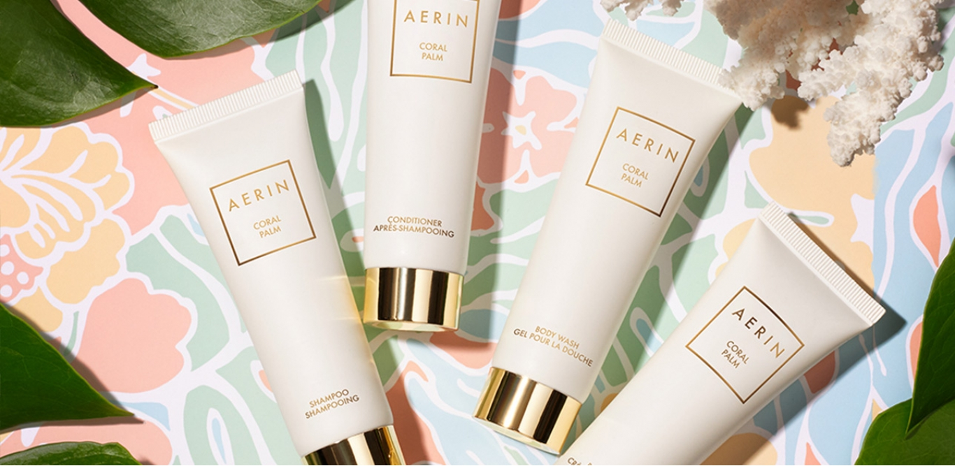 AERIN's New Coral Palm Hotel Amenity Line at Rosewood Bermuda